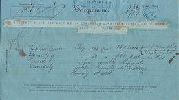 Télégramme Codé Sydney -> Bordeaux, TARIF SPECIAL 1880 - Marcophilie (Lettres)