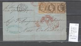 France - USA  : Bordeaux Pour La Nouvelle Orléans - 1870 - Postmark Collection (Covers)
