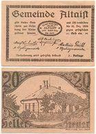 Altaist Bei Ried In Der Riedmark, 1 Schein Notgeld 1920, Österreich 20 Heller - Oesterreich