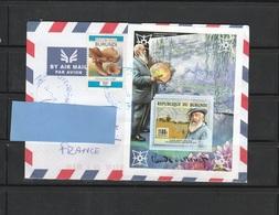 Z3] Enveloppe Circulée Circulated Cover Burundi Claude Monet IMPRESSOR 2017 - Impressionisme
