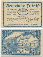 Altaist Bei Ried In Der Riedmark, 1 Schein Notgeld 1920, Österreich 10 Heller, - Oesterreich