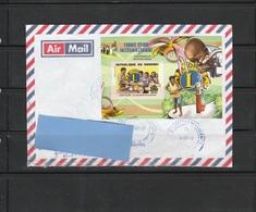 Z3] Enveloppe Circulée Circulated Cover Burundi Lions Club Famine Starvation Eau Water Lion  IMPRESSOR - Rotary Club