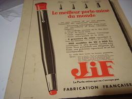 ANCIENNE PUBLICITE PORTE MINE JIF  1932 - Autres
