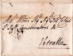 Lettre Rome Roma 1774 Vetralla Viterbo États Pontificaux Stato Pontificio Italia - Etats Pontificaux