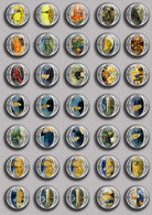 Vincent Van Gogh Painting Fan ART BADGE BUTTON PIN SET 1 (1inch/25mm Diameter) 35 DIFF - Pin