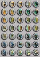 Vincent Van Gogh Painting Fan ART BADGE BUTTON PIN SET 2 (1inch/25mm Diameter) 35 DIFF - Pin