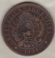ARGENTINE / TUCUMAN. DOS CENTAVOS 1891. BRONZE - Argentina