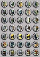 Vincent Van Gogh Painting Fan ART BADGE BUTTON PIN SET 3 (1inch/25mm Diameter) 35 DIFF - Pin