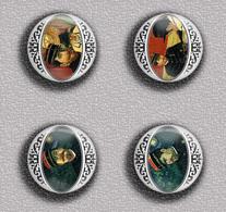 Vincent Van Gogh Painting Fan ART BADGE BUTTON PIN SET 4 (1inch/25mm Diameter) 35 DIFF - Pin