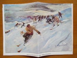 (1936)  ALPE D'HUEZ  - Descente  à Ski   - Coupure De Presse Originale (Encart Photo) - Documents Historiques