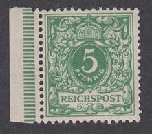 DEUTSCHES REICH 1889-1900 - Mi.-Nr. 46 POSTFRISCH MNH** (Originalgummi) Mit Bogenrand - Ungebraucht