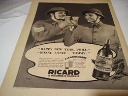 ANCIENNE PUBLICITE RICARD 1940 - 1939-45