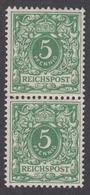 DEUTSCHES REICH 1889-1900 - Mi.-Nr. 46 POSTFRISCH MNH** (Originalgummi) Senkrechtes Paar - Deutschland