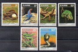 ZAIRE  Timbres Neufs ** De 1987  ( Ref 5768 ) Animaux - Reptiles - Zaïre