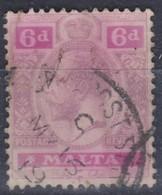MALTE 1913: Le 6 P. Violet-brun Et Lilas-rose (Y&T 49), Oblitéré - Malta