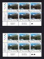 New Zealand 2003 Landscapes 50c Ailsa Mountains Control Blocks Kiwi Reprints MNH - New Zealand