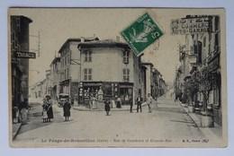 CPA Le Péage-de-Roussillon, Rue De Condrieu Et Grande-Rue, Isère - France