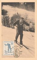 D35483 CARTE MAXIMUM CARD RR 1951 CZECHOSLOVAKIA - CROSS COUNTRY SKIING CP ORIGINAL - Skiing