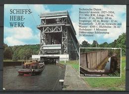 Deutschland NIEDERFINOW Kr Eberswalde Schiffshebewerk Boat Lift (gesendet 1995, Mit Briefmarke) - Schiffe