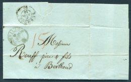 1854 Switzerland Sonvillier Entire. Novelli Pere Et Fils - Burgdorf - ...-1845 Prephilately