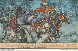 """IMAGE """" COMPAGNIE LIEBIG Gesticht In 1865 """" SALADIN - DE KURDISCHE HOOFDMAN SALAH-ED-DIN ACHTERVOLGT DE CHRISTENEN IN EG - Vieux Papiers"""