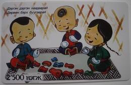 MONGOLIA PREPAID PHONECARD USED - 12. NICE CARD!!! - Mongolia