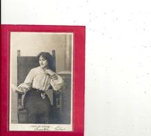 CARTE-PHOTO .- LETTRE DE MARIAGE  - DOS NON DIV AFFR AU VERSO LE 3-1-1904 . 2 SCANES - Marriages