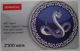 MONGOLIA PREPAID PHONECARD USED - 21. NICE CARD!!! - Mongolia