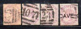 T129 - CEYLON : 5 Cents Quattro Esemplari Con Diversi Annulli - Ceylon (...-1947)