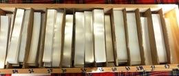 1 500 GR. DE BANDES HAWID SIMPLE SOUDURE FOND TRANSPARENT- LONGUEUR 210mm X HAUTEUR AU CHOIX.+ 10% GRATUIT- VOIR INFO - Bandes Cristal