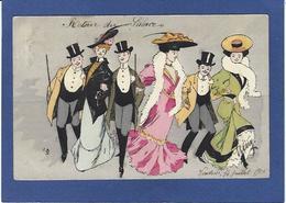 CPA Femme En Pied Girl Femme Women Glamour Beauté Circulé Art Nouveau Mode Chapeau - 1900-1949