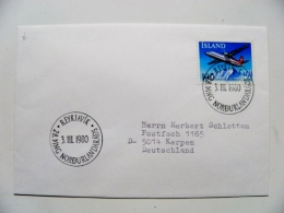 Cover From Iceland 1980  Reykjavik Plane Airplane Avion Mountains - 1944-... Repubblica