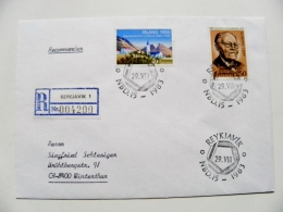 Cover From Iceland 1983 Special Cancel  Registered Reykjavik Europa Cept - 1944-... Repubblica