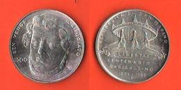 San Marino 500 Lire Centenario Garibaldino 1882 - 1982 - Saint-Marin