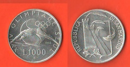 San Marino 1000 Lire 1988 Olimpiadi Seul Swimming - Saint-Marin