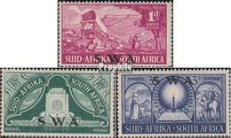 Namibia - Südwestafrika 266-268 (kompl.Ausg.) Postfrisch 1949 Voortrekker-Denkmal - South West Africa (1923-1990)