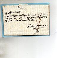 """Bureau Français """"ROME"""",L.A.C. Du 15/1/1788 Pour PERPIGNAN. - Poststempel (Briefe)"""