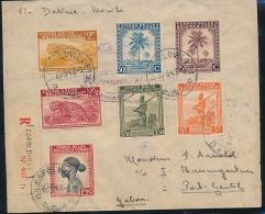 BELGIAN CONGO BELGE LETTRE CENSUREE DE LEO. EN 1942 VERS LE GABON - 1923-44: Briefe U. Dokumente