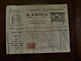Oude Faktuur  E.  ENDELS   Met 1 Fiscale Zegel  1939 - Autres Appareils