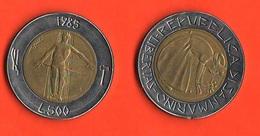 San Marino 500 Lire 1985 Contro La Droga Bimetallic Bimetallici - San Marino
