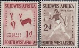 Namibia - Südwestafrika 279-280 MNH 1954 Petroglifi - Africa Del Sud-Ovest (1923-1990)