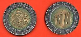 San Marino 500 Lire 1992 Scoperta America Bimetallic Bimetallici - San Marino