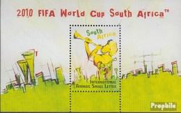 Afrique Du Sud Bloc 121 (complète.Edition.) Timbres Prémier Jour 2009 Football WM - FDC