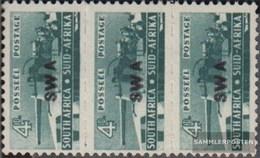 Namibia - Südwestafrika 244 Dreierstreifen Postfrisch 1942 Rüstungsbilder - Afrique Du Sud-Ouest (1923-1990)