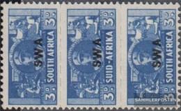 Namibia - Südwestafrika 238-239 Dreierstreifen Postfrisch 1942 Rüstungsbilder - Südwestafrika (1923-1990)