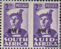 Namibia - Südwestafrika 236b-237b Waagerechtes Paar Postfrisch 1942 Rüstungsbilder - Südwestafrika (1923-1990)