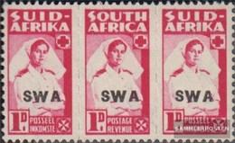 Namibia - Südwestafrika 232a-233a Dreierstreifen Postfrisch 1942 Rüstungsbilder - Afrique Du Sud-Ouest (1923-1990)