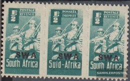 Namibia - Südwestafrika 230-231 Dreierstreifen Postfrisch 1942 Rüstungsbilder - Südwestafrika (1923-1990)