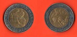 San Marino 500 Lire 1994 Bimetallic Bimetallici - San Marino