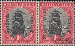 Namibia - Südwestafrika 91-92 Waagerechtes Paar Postfrisch 1927 Aufdruckausgabe - Südwestafrika (1923-1990)